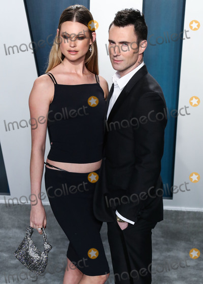 Adam Levine Photo - BEVERLY HILLS LOS ANGELES CALIFORNIA USA - FEBRUARY 09 Model Behati Prinsloo and husbandsinger Adam Levine arrive at the 2020 Vanity Fair Oscar Party held at the Wallis Annenberg Center for the Performing Arts on February 9 2020 in Beverly Hills Los Angeles California United States (Photo by Xavier CollinImage Press Agency)