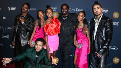 Diddy Combs Photo - BEVERLY HILLS LOS ANGELES CALIFORNIA USA - JANUARY 25 Christian Casey Combs Jessie James Combs Justin Dior Combs Chance Combs Sean Diddy Combs DLila Star Combs and Quincy Taylor Brown arrive at The Recording Academy And Clive Davis 2020 Pre-GRAMMY Gala held at The Beverly Hilton Hotel on January 25 2020 in Beverly Hills Los Angeles California United States (Photo by Xavier CollinImage Press Agency)