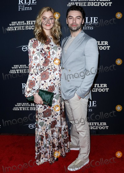 Caitlin Fitzgerald Photo - HOLLYWOOD LOS ANGELES CA USA - FEBRUARY 04 Actress Caitlin Fitzgerald and boyfriend Aidan Turner arrive at the Los Angeles Premiere Of RLJE Films The Man Who Killed Hitler And Then Bigfoot held at ArcLight Cinemas Hollywood on February 4 2019 in Hollywood Los Angeles California United States (Photo by David AcostaImage Press Agency)