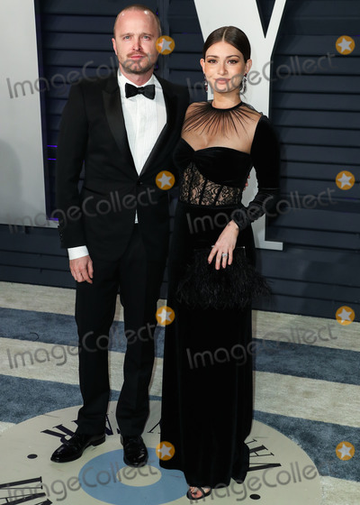 Aaron Paul Photo - BEVERLY HILLS LOS ANGELES CA USA - FEBRUARY 24 Aaron Paul and wife Lauren Parsekian arrive at the 2019 Vanity Fair Oscar Party held at the Wallis Annenberg Center for the Performing Arts on February 24 2019 in Beverly Hills Los Angeles California United States (Photo by Xavier CollinImage Press Agency)