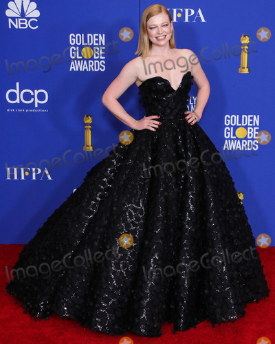 Sarah Snook Photo - BEVERLY HILLS LOS ANGELES CALIFORNIA USA - JANUARY 05 Actress Sarah Snook wearing a Christian Siriano dress poses in the press room at the 77th Annual Golden Globe Awards held at The Beverly Hilton Hotel on January 5 2020 in Beverly Hills Los Angeles California United States (Photo by Xavier CollinImage Press Agency)
