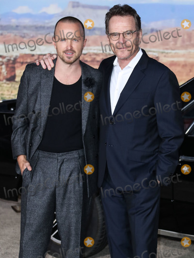 Bryan Cranston Photo - WESTWOOD LOS ANGELES CALIFORNIA USA - OCTOBER 07 Actors Aaron Paul and Bryan Cranston arrive at the Los Angeles Premiere Of Netflixs El Camino A Breaking Bad Movie held at the Regency Village Theatre on October 7 2019 in Westwood Los Angeles California United States (Photo by Xavier CollinImage Press Agency)