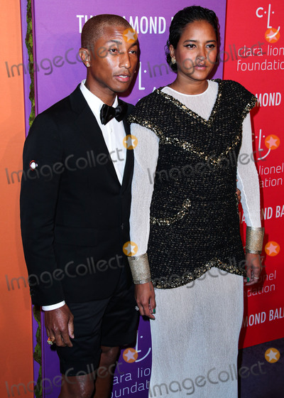 Helen Lasichanh Photo - MANHATTAN NEW YORK CITY NEW YORK USA - SEPTEMBER 12 Pharrell Williams and Helen Lasichanh arrive at Rihannas 5th Annual Diamond Ball Benefitting The Clara Lionel Foundation held at Cipriani Wall Street on September 12 2019 in Manhattan New York City New York United States (Photo by Xavier CollinImage Press Agency)