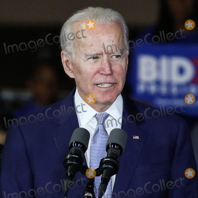 Joe Biden Photo - BALDWIN HILLS LOS ANGELES CALIFORNIA USA - MARCH 03 Former Vice President Joe Biden 2020 Democratic presidential candidate speaks during the Jill and Joe Biden 2020 Super Tuesday Los Angeles Rally held at the Baldwin Hills Recreation Center on March 3 2020 in Baldwin Hills Los Angeles California United States (Photo by Xavier CollinImage Press Agency)