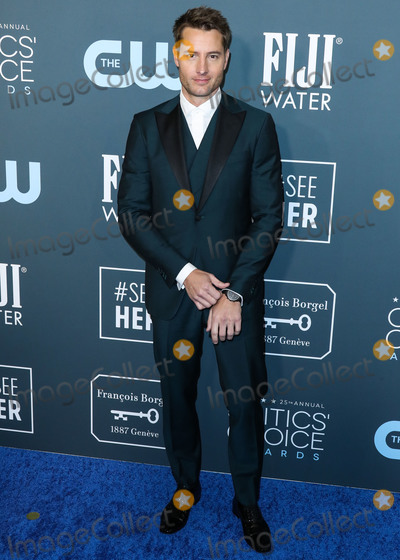 Justin Hartley Photo - SANTA MONICA LOS ANGELES CALIFORNIA USA - JANUARY 12 Actor Justin Hartley wearing an Isaia tux Christian Louboutin shoes and an Omega watch and cuff links arrives at the 25th Annual Critics Choice Awards held at the Barker Hangar on January 12 2020 in Santa Monica Los Angeles California United States (Photo by Xavier CollinImage Press Agency)