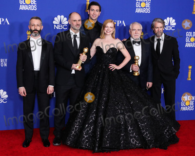 Alan Ruck Photo - BEVERLY HILLS LOS ANGELES CALIFORNIA USA - JANUARY 05 Jeremy Strong Jesse Armstrong Nicholas Braun Sarah Snook Brian Cox and Alan Ruck pose in the press room at the 77th Annual Golden Globe Awards held at The Beverly Hilton Hotel on January 5 2020 in Beverly Hills Los Angeles California United States (Photo by Xavier CollinImage Press Agency)