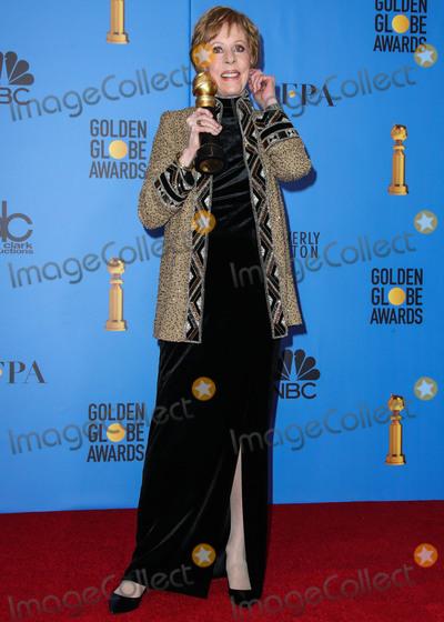 Carol Burnett Photo - BEVERLY HILLS LOS ANGELES CA USA - JANUARY 06 Actress Carol Burnett poses in the press room at the 76th Annual Golden Globe Awards held at The Beverly Hilton Hotel on January 6 2019 in Beverly Hills Los Angeles California United States (Xavier CollinImage Press Agency)