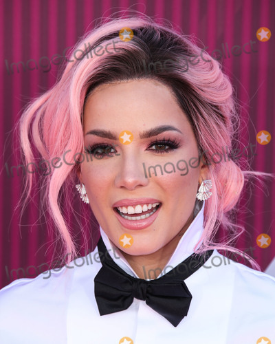 Anita Ko Photo - (FILE) Halsey Donates 100000 Face Masks to California Hospitals Amid Coronavirus COVID-19 Pandemic Halsey (Ashley Nicolette Frangipane) has donated 100000 face masks to four California medical facilities LOS ANGELES CA USA - MARCH 14 Singer Halsey (Ashley Nicolette Frangipane) wearing a Dsquared2 outfit Cult of Coquette heels Anita Ko earrings and a Yeprem ring arrives at the 2019 iHeartRadio Music Awards held at Microsoft Theater at LA Live on March 14 2019 in Los Angeles California United States (Photo by Xavier CollinImage Press Agency)