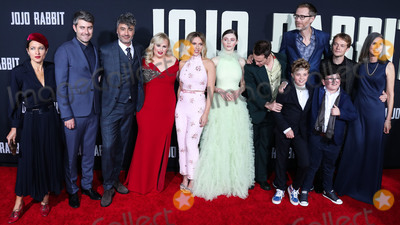 Archie Yates Photo - HOLLYWOOD LOS ANGELES CALIFORNIA USA - OCTOBER 15 Chelsea Cohen Carthew Neal Taika Waititi Rebel Wilson Scarlett Johansson Thomasin McKenzie Sam Rockwell Stephen Merchant Roman Griffin Davis Archie Yates Alfie Allen and Christine Leunens arrive at the Los Angeles Premiere Of Fox Searchlights Jojo Rabbit held at the Hollywood American Legion Post 43 on October 15 2019 in Hollywood Los Angeles California United States (Photo by David AcostaImage Press Agency)