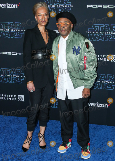 Spike Lee Photo - HOLLYWOOD LOS ANGELES CALIFORNIA USA - DECEMBER 16 Tonya Lewis Lee and Spike Lee arrive at the World Premiere Of Disneys Star Wars The Rise Of Skywalker held at the El Capitan Theatre on December 16 2019 in Hollywood Los Angeles California United States (Photo by Xavier CollinImage Press Agency)
