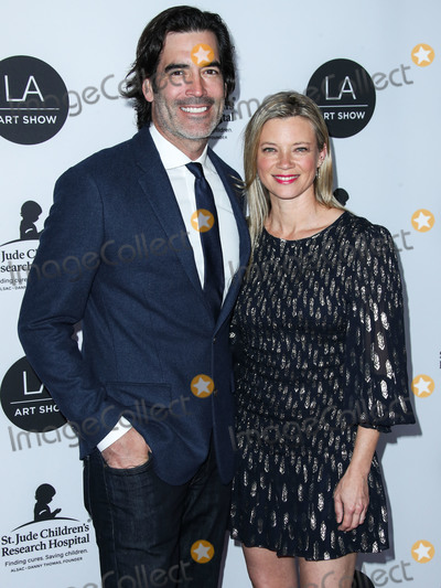 Amy Smart Photo - LOS ANGELES CA USA - JANUARY 23 Carter Oosterhouse and wifeactress Amy Smart arrive at the Los Angeles Art Show 2019 Opening Night Gala held at the Los Angeles Convention Center on January 23 2019 in Los Angeles California United States (Photo by Xavier CollinImage Press Agency)