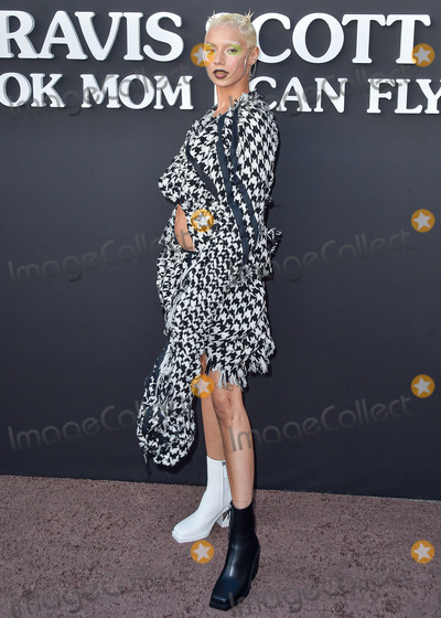 Travis Scott Photo - SANTA MONICA LOS ANGELES CALIFORNIA USA - AUGUST 27 Jazzelle Zanaughtti arrives at the Los Angeles Premiere Of Netflixs Travis Scott Look Mom I Can Fly held at Barker Hangar on August 27 2019 in Santa Monica Los Angeles California United States (Photo by Image Press Agency)
