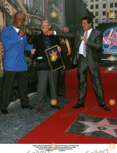 Carl Weathers Photo -  Irwin Winkler Honored with Hollywood Walk of Fame Star Carl Weathersirvin Winkler and Sylvester Stallone Photo by Fitzroy BarrettGlobe Photosinc