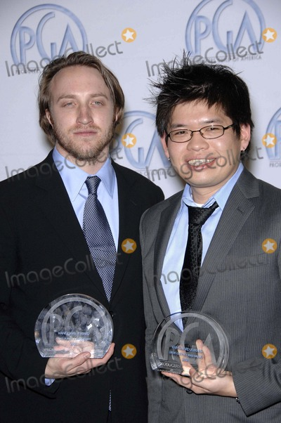 Steve Chen Photo - Chad Hurley and Steve Chen During the 19th Annual Producers Guild Awards (Press Room) Held at the Beverly Hilton Hotel on February 2 2008 in Beverly Hills California Photo by Michael Germana-Globe Photos 2008