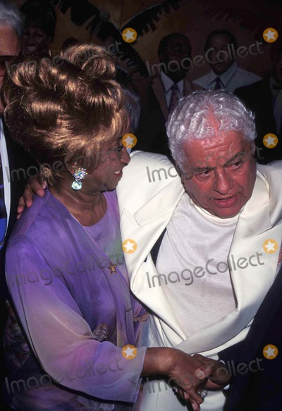 Tito Puente Photo - Grand Opening of Tito Puentes Restaurant 072595 Celia Cruz Photo by John BarrettGlobe Photos Inc Celiacruzretro