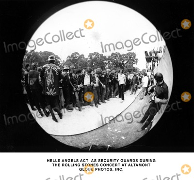 HELLS ANGELS Photo - Hells Angels Act As Security Guards During the Rolling Stones Concert at Altamont Globe Photos Inc