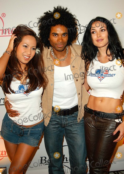 Flo Jalin Photo - - Bench Warmer 2003 Series Release Party - White Lotus Hollywood CA - 07032003 - Photo by Jonathan Friolo  Globe Photos Inc 2003 - Fabrice Morvan with Flo Jalin and Michela Fruet