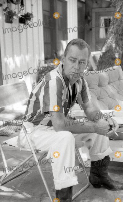 Alan Ladd Photo - Alan Ladd at Home in Palm Springs Photo Don OrnitzGlobe Photos Inc