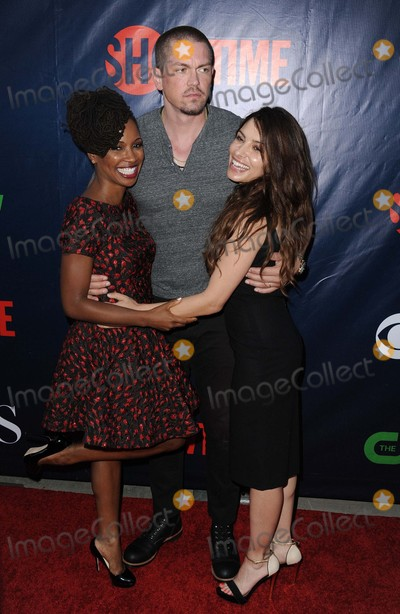 Steve Howey Photo - Shanola Hampton Steve Howey Sarah Shahi attending the Cbs Showtime Cw Tca Party Held at the Pacific Design Center in West Hollywood California on August 10 2015 Photo by D Long- Globe Photos Inc