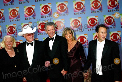 Anthony Clark Photo - Cbs at 75 at the Hammerstein Ballroom  NYC 11022003 Photosonia Moskowitz  Globe Photosinc Cast Members of Dallas Larry Hagman and Wife Patrick Duffy and Linda Gray with Anthony Clark