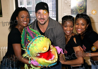 Dequina Moore Photo - Little Shop of Horrors Sneak Preview Rehearsals Nola Studios 54th Street New York City 06162004 Photo Rick Mackler  Rangefinders  Globe Photos Inc 2004 Joey Fatone with Carla Hargove Trisha Jeffrey and Dequina Moore