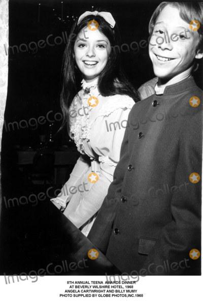 Billy Mumy Photo - Annual Teena Awards Dinner at Beverly Wilshire Hotel 1968 Angela Cartwright and Billy Mumy Photo Supplied by Globe Photosinc