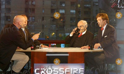 Tucker Carlson Photo - Exclusive K40231wr Taping of  Crossfire  in New York City 1122004 Photo Bywilliam ReganGlobe Photos Inc 2004 James Carville Robert Novak and Tucker Carlson