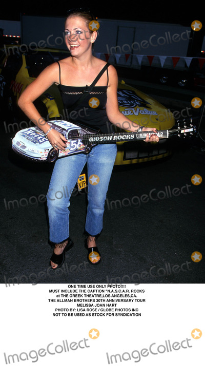 Allman Brothers Photo - One Time Use Only Photo Must Include the Caption nascar Rocks at the Greek Theatre Los Angeles CA the Allman Brothers 30th Anniversary Tour Melissa Joan Hart Photo by Lisa RoseGlobe Photos Inc 1999 Not to Be Used As Stock For Syndication