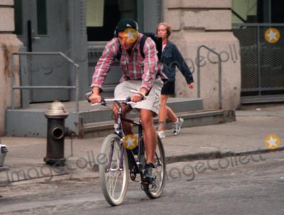 John F Kennedy Jr Photo Exclusive Biking In Tribeca New York