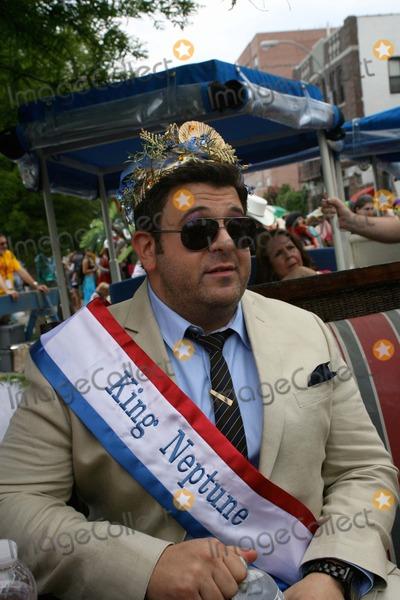 Cat Greenleaf Photo - Coney Island Mermaid Parade Brooklyn NY King Neptune Adam Richman and   Queen Mermaid Cat Greenleaf                                                                                                           Bruce Cotler - Globe Photos                      6  18  11 Adam Richman