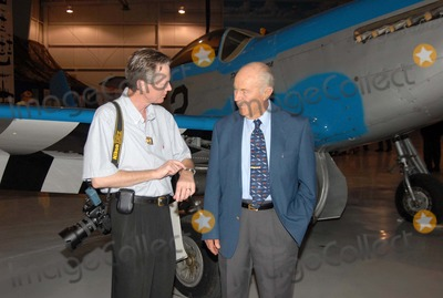 Chuck Yeager Photo - K55390NRGENERAL CHUCK YEAGER RECEIVES THE SILVER BEAVER AWARD FROM THE BOY SCOUTS OF AMERICA THIS IS THE BOY SCOUTS HIGHEST AWARD TO A NON-SCOUT THE PALM SPRINGS AIR MUSEUM PALM SPRINGS CA 10-30-2007PHOT BY NED REDWAY-GLOBE PHOTOS 2007Society and Presidential PhotographerNed Redway talks about Rolex watches with Gen Chuck YeagerBoth Redway and Gen Yeager are Rolex watch collectors