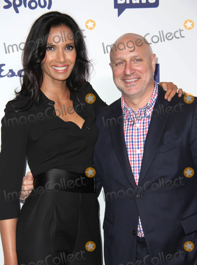 Tom Colicchio Photo - NBC Uni Cable Upfront Presentation 2014 Red Carpet Arrivals the Javits Center NYC May 15 2014 Photos by Sonia Moskowitz Globe Photos Inc 2014 Padma Lakshmi Tom Colicchio