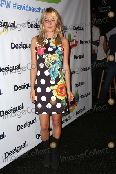 Camille Rowe Photo - Desigual Spring 2015 Runway Show Celebrities Backstage Lincoln Center Theatre NYC September 4 2014 Photos by Sonia Moskowitz Globe Photos Inc 2014 Camille Rowe
