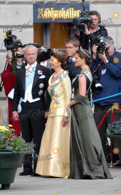Princess Victoria of Sweden Photo - State Banquet-swedish State Visit-malmo Town Hall Copenhagen Denmark 05-11-2007 Photo by Ricardo Ramirez-richfoto-Globe Photos Inc King Carl Gustav Queen Silvia and Princess Victoria of Sweden