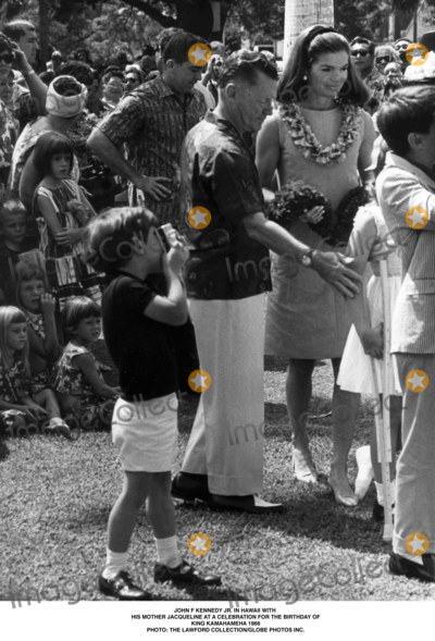 JFK Jr Photo - John F Kennedy Jr in Hawaii with His Mother Jacqueline at a Celebration For the Birthday of King Kamahameha 1966 Photo the Lawford CollectionGlobe Photos Inc