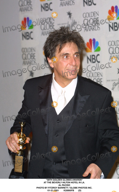 Al Pacino Photo - 58th Golden Globes Awards at the Beverly Hilton Hotel in LA AL Pacino Photo by Fitzroy Barrett  Globe Photos Inc 1-21-2001 K20895fb (D)