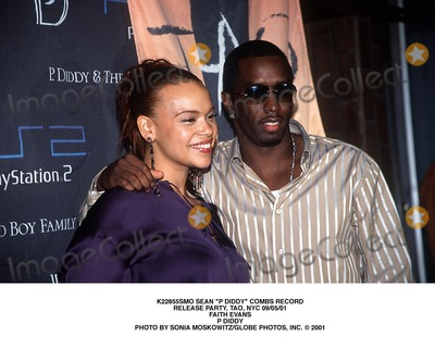 Faith Evans Photo - Sean P Diddy Combs Record Release Party Tao NYC 090501 Faith Evans P Diddy Photo by Sonia MoskowitzGlobe Photos Inc