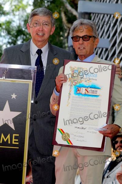 Al Schmitt Photo - Music Pioneer Al Schmitt Honored with Star on the Hollywood Walk of Fame 1750 N Vinefront of Capitol Records Hollywood CA 08132015 Leron Gubler and AL Schmitt Clinton H Wallace-ipol-Globe Photos Inc