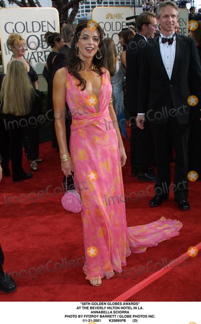 Annabella Sciorra Photo - 58th Golden Globes Awards at the Beverly Hilton Hotel in LA Annabella Sciorra Photo by Fitzroy Barrett  Globe Photos Inc 1-21-2001 K20895fb (D)