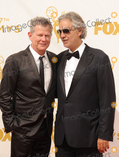 Andrea Bocelli Photo - Andrea Bocelli David Foster attending the 67th Annual Primetime Emmy Awards - Arrivals Held at the Microsoft Theater in Los Angeles California on September 20 2015 Photo by D Long- Globe Photos Inc