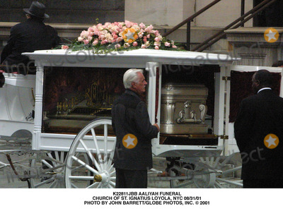 Aaliyah Photo - Aaliyah Funeral Church of St Ignatius Loyola NYC 083101 Photo by John BarrettGlobe Photos Inc