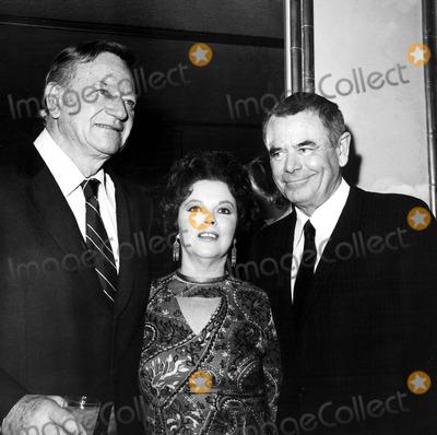 Shirley Temple Black Photo - John Wayne Shirley Temple Black and Glenn Ford 121976 Nate CutlerGlobe Photos Inc