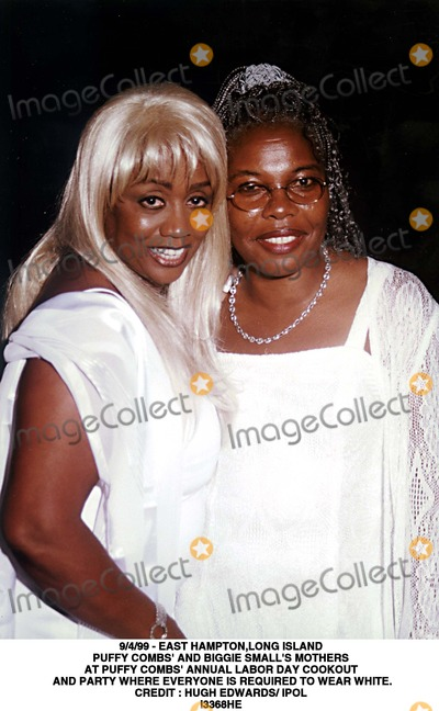 Hugh Edwards Photo - 499 - East Hamptonlong Island Puffy Combs and Biggie Smalls Mothers at Puffy Combs Annual Labor Day Cookout and Party Where Everyone Is Required to Wear White Credit  Hugh Edwards IpolGlobe Photos Inc