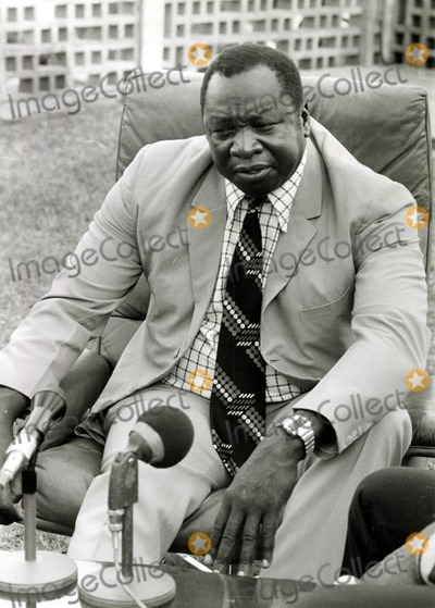 Amine Photo - Uganda President Idi Amin Holds a Garden News Conference with Members of the Black American Press 1976 Ipol ArchiveipolGlobe Photos Inc