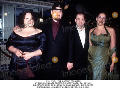 Larry Wachowski Photo - 032499 the Matrix Premiere at Manns Village Theatre in Westwood CA Directors Andy and Larry Wachowski with Their Wives Supplied by Lisa RoseGlobe Photos Inc