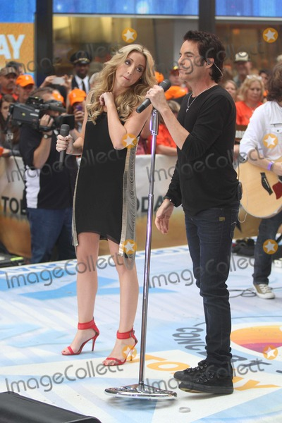 Ashley Monroe Photo - Pat Monahan Vocals From Trainashley Monroe Performing on NBC Today Show Concert Series 7-26-2013 Photo by John BarrettGlobe Photos
