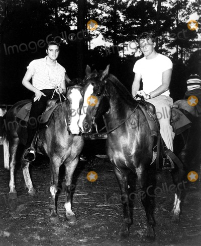 Red West Photo - Elvis Presley and Red West Supplied by Globe Photos Inc