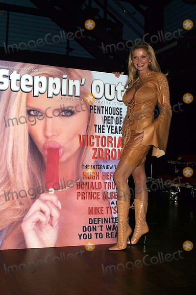 VICTORIA ZDROK Photo - Penthouse Pet Victoria Zdrok Promoting Stepping Out Magazine Party at Avalon Nightclub New York City 03112004 Photo by Rick MacklerrangefindersGlobe Photos Inc 2004 Victoria Zdrok
