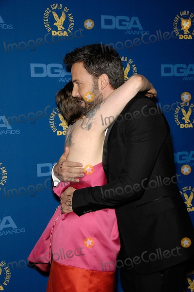 Lena Dunham Photo - Lena Dunham and Ben Affleck During the 65th Annual Directors Guild of America Awards Held at the Ray Dolby Ballroom on February 2 2013 in Los Angeles Photo Michael Germana  Superstar Images - Globe Photos