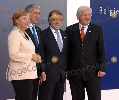 Angela Merkel Photo - 20071018 LISBON PORTUGAL - Arrival of Heads of State - Lisbon Informal Summit  Session of the Intergovernmental Conference In Picture Angela Merkel (Germany Federal Chancellor) Jose Socrates (Prime Minister of Portugal) Luis Amado (Portuguese Minister for Foreing Affairs) and Frank Walter Steinmeier (Germany Minister for Foreing Affairs) PHOTO Alvaro IsidoroCITYFILESK55190